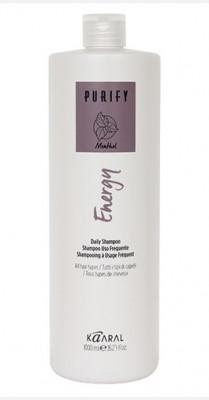 Шампунь интенсивный энергетический с ментолом Kaaral Purify-Energy Shampoo 1000мл: фото