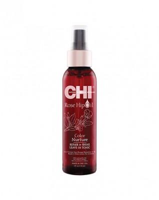 Тоник питание цвета CHI Масло Дикой розы Rose Hip Repair and Shine Hair Tonic 118 мл: фото