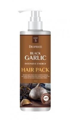 Маска для волос с экстрактом черного чеснока DEOPROCE BLACK GARLIC INTENSIVE ENERGY HAIR PACK 1000мл: фото