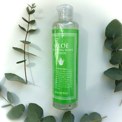 Тонер натуральный увлажняющий с 98% экстрактом алоэ вера Secret Key Aloe Soothing Moist Toner: фото