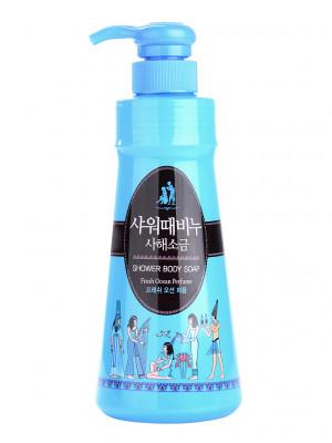 Гель для душа Mukunghwa SHOWER BODY SOAP Dead Sea Salt With Fresh Ocean Perfume 900мл: фото