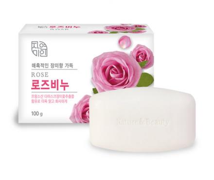 Мыло туалетное Mukunghwa Rose Beauty Soap 100г: фото