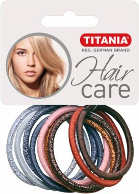 Резинки для волос Titania 4,5см цветные 10 шт: фото