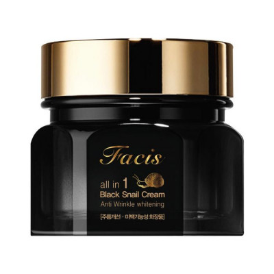 Крем для лица МУЦИН УЛИТКИ Facis All-In-One Black Snail Cream 100мл: фото