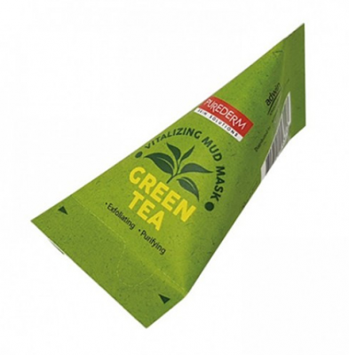 Маска глиняная с зеленым чаем Purederm Green tea vitalizing facial mud mask 20г*12мл: фото