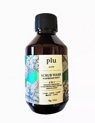 Скраб-гель для душа малина и мята PLU Scrub wash raspberry mint 70г: фото