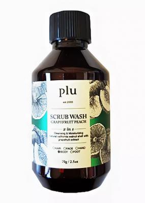 Скраб-гель для душа персик и грейпфрут PLU Scrub wash grapefruit peach 70г: фото