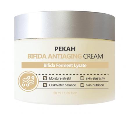 Крем для лица антивозрастной бифида Pekah Bifida antiaging cream 50мл: фото