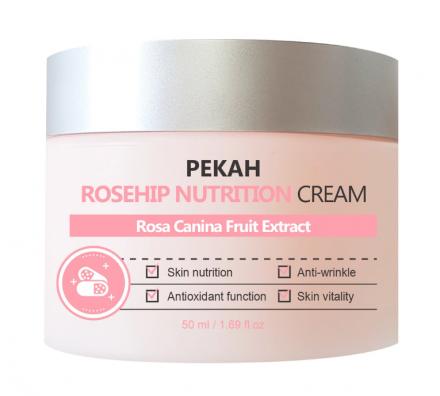 Крем для лица питательный с экстрактом шиповника Pekah Rosehip nutrition cream 50мл: фото
