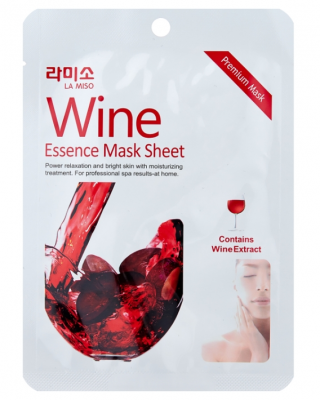 Маска с экстрактом красного вина La Miso Wine essence mask sheet 21г: фото