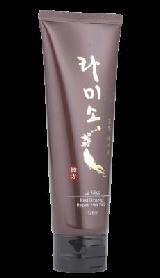 Маска для волос с красным женьшенем La Miso Red ginseng repair hair pack 120мл: фото