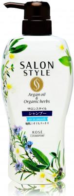 Шампунь для волос разглаживающий с ароматом цветов и трав Kose Salon style air in smooth 500мл: фото