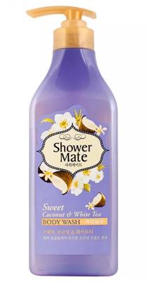 Гель для душа Кокос и белый чай KeraSys Shower mate weet coconut & white tea 550мл: фото