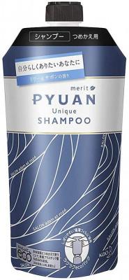 Шампунь для волос с ароматом лилии и мыла KAO Merit pyuan unique 340мл: фото