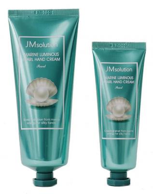 Набор кремов для рук с жемчугом JMsolution Marine luiminous pearl hand cream 100+50мл: фото